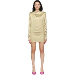 Gauge81 SSENSE Exclusive Taupe Satin Pisa Mini Dress
