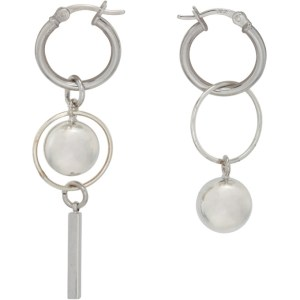 Mounser Silver Solar Petite Hoop Earrings
