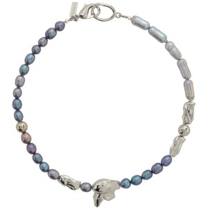 Mounser Silver and Blue 18 Rincon Necklace