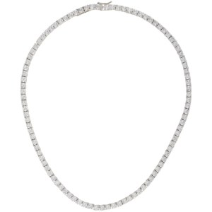 Mounser Silver Laguna Rhinestone Necklace