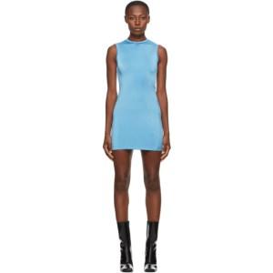 Georgia Alice SSENSE Exclusive Blue Twisted Mini Dress