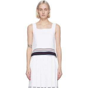 Thom Browne White Double Cricket Tank Top