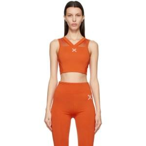 Kenzo Orange Logo X Sports Bra