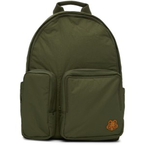 Kenzo Khaki Tiger Crest Backpack