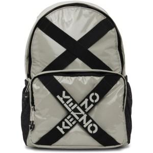 Kenzo Grey Sport Logo Backback