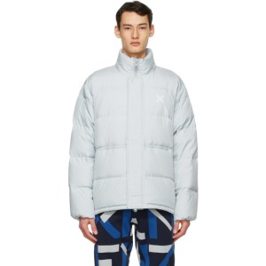 Kenzo Grey Down Sport Little X Puffer Jacket