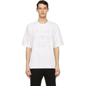 Kenzo White Oversized Gradient Tiger T-Shirt