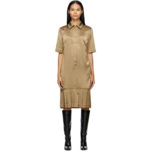 Commission SSENSE Exclusive Tan Bralette Shirt Dress
