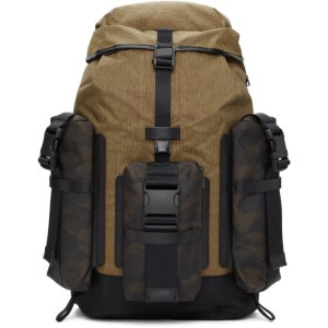 Master-Piece Co Black and Tan Large Rogue Backpack