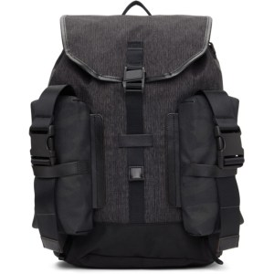 Master-Piece Co Black and Grey Medium Rogue Backpack