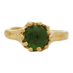 Mondo Mondo Gold and Green Lush Ring