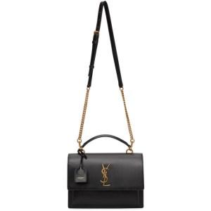Saint Laurent Black Medium Sunset Satchel Bag