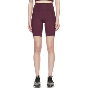 Girlfriend Collective Purple High-Rise Bike Shorts