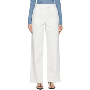 LVIR White Stitch-Point Jeans