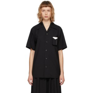 Hyein Seo SSENSE Exclusive Black Smokers Short Sleeve Shirt