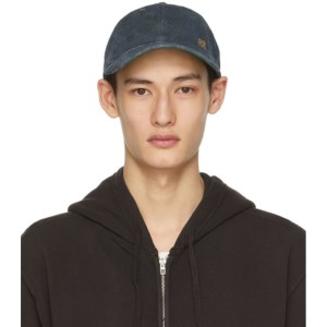 RRL Indigo Suede Rough Out Baseball Cap