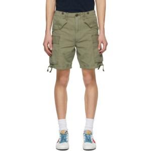 RRL Khaki Regiment Fit Cargo Shorts