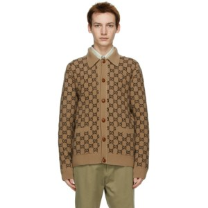 Gucci Brown Wool GG Cardigan