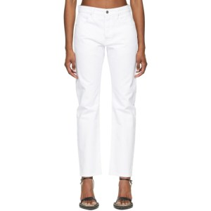 Frame White Le Slouch Jeans