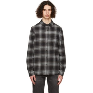 Frame Grey Flannel Check Shirt