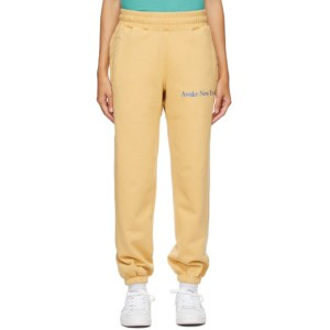 Awake NY Yellow Classic Outline Logo Lounge Pants