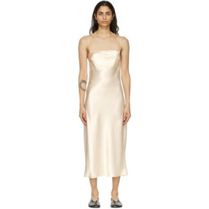 Le Kasha Off-White Silk Hotan Dress