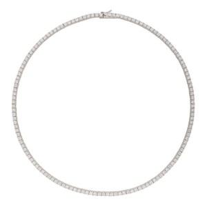 Hatton Labs White Tennis Chain Necklace