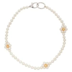 Hatton Labs SSENSE Exclusive White Daisy Pearl Chain Necklace