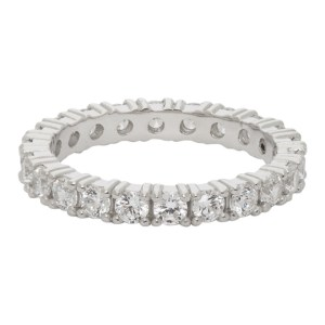 Hatton Labs SSENSE Exclusive Silver and White Eternity Ring