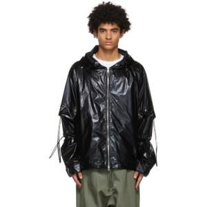 JERIH Black Windbreaker Jacket