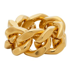 IN GOLD WE TRUST PARIS Gold Cuban Link Ring