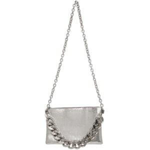KARA Silver Chain Mail Crossbody Bag