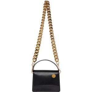 KARA Black Baby Pinch Chain Bag