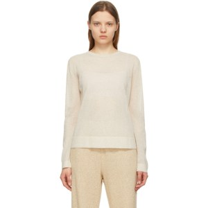 LE17SEPTEMBRE Beige Sheer Pullover Sweater