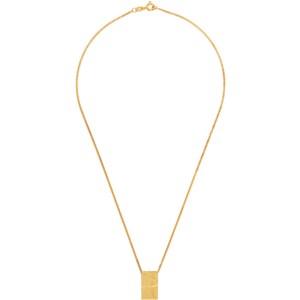 Dear Letterman Gold Leem Pendant Necklace
