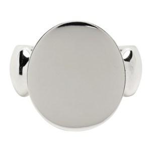 Dear Letterman SSENSE Exclusive Silver Wais Ring