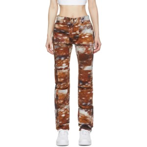 Lourdes Brown Multi-Pocket Deer Jeans