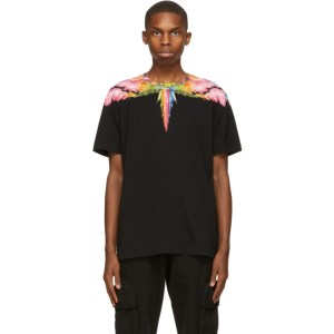 Marcelo Burlon County of Milan Black Colordust Wings T-Shirt