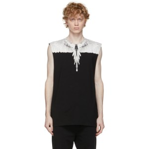 Marcelo Burlon County of Milan Black and White Wings Tank Top