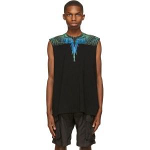 Marcelo Burlon County of Milan Black Wings Tank Sleeveless T-Shirt