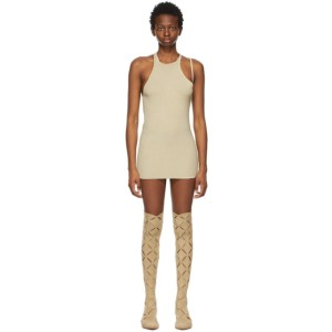 ISA BOULDER SSENSE Exclusive Beige Mini Mini Dress