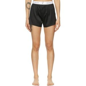 Fleur du Mal Black Silk Boxer Shorts