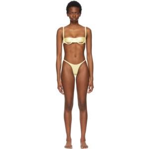ISA BOULDER Yellow Horizontal and Forward Bikini