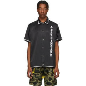 BAPE Black Relaxed Classic Disco Short Sleeve Shirt