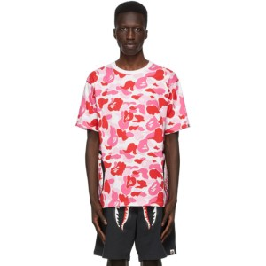 BAPE Pink Camo Side Shark T-Shirt