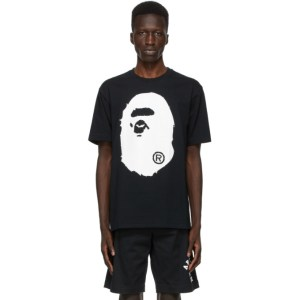 BAPE Black Crystal Stone Big Ape Head T-Shirt