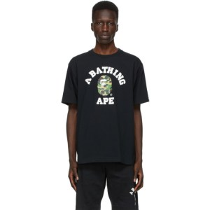 BAPE Black Camo College T-Shirt