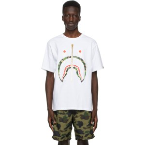 BAPE White Colors Shark T-Shirt