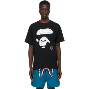 BAPE Black Camo Ape Face Space T-Shirt