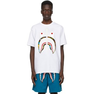 BAPE White Bandana Milo Pool Shark T-Shirt